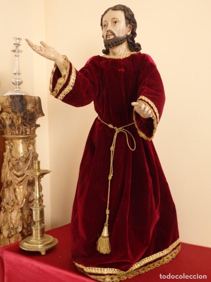 Arte: Oración de Jesús en el Huerto de los Olivos. Imagen vestidera o cap i pota. Madera. 86 cm. S. XVIII. - Foto 38 - 142209234