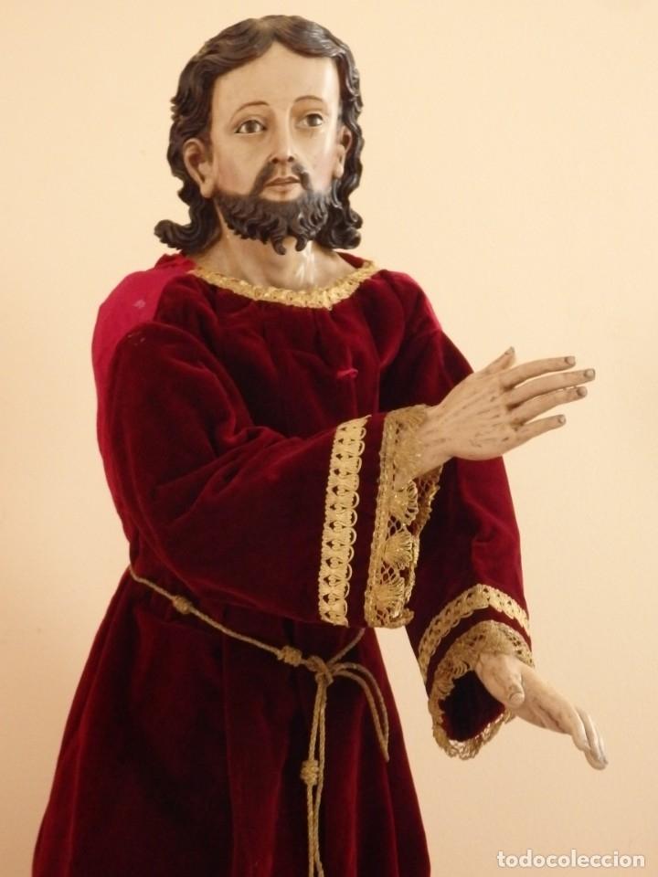 Arte: Oración de Jesús en el Huerto de los Olivos. Imagen vestidera o cap i pota. Madera. 86 cm. S. XVIII. - Foto 39 - 142209234
