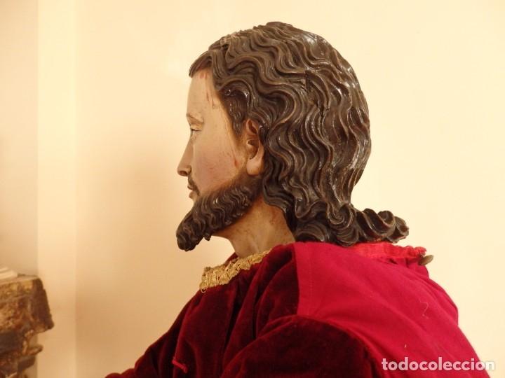 Arte: Oración de Jesús en el Huerto de los Olivos. Imagen vestidera o cap i pota. Madera. 86 cm. S. XVIII. - Foto 41 - 142209234