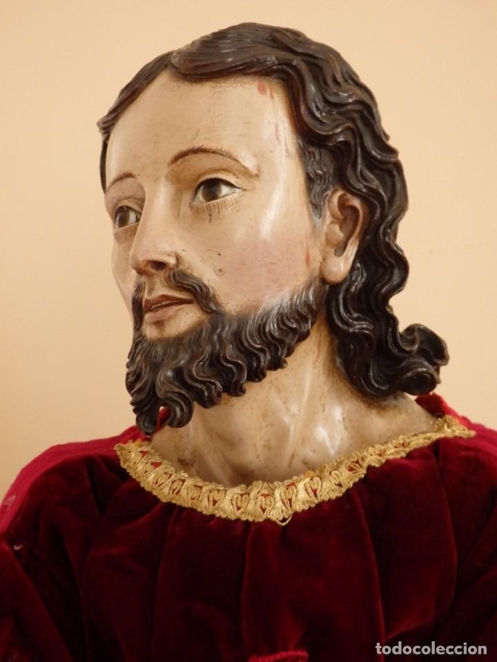 Arte: Oración de Jesús en el Huerto de los Olivos. Imagen vestidera o cap i pota. Madera. 86 cm. S. XVIII. - Foto 40 - 142209234