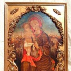 Arte: RETABLO ORIGINAL VIRGEN MARIA Y JESUS. Lote 142246542