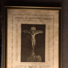 Arte: VILLANUEVA DEL GRAO (VALENCIA) TIPOGRAFÍA SANTÍSIMO CRISTO (A.1925). Lote 142331148