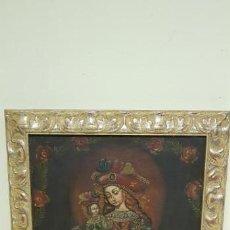 Art: J- OLEO SOBRE TELA VIRGEN ROBERTO BENAVENTE 1813-1913? TAMAÑO OBRA SIN MARCO 60X41. Lote 142342986