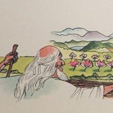 Arte: LA TIERRA PROMETIDA.DIBUJO ORIGINAL DE PIERRE MONNERAT (SUIZA 1917-BARCELONA 2005). Lote 142550386