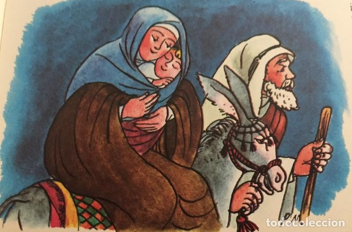 JESUS, MARIA Y JOSÉ, ORIGINAL DE PIERRE MONNERAT (1917-2005) (Arte - Arte Religioso - Pintura Religiosa - Acuarela)