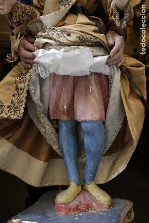 Arte: Extraordinaria virgen del carmen con niño finales siglo XVIII de gran tamaño. - Foto 12 - 112504187
