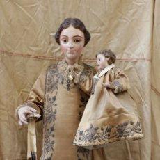 Arte: EXTRAORDINARIA VIRGEN DEL CARMEN CON NIÑO FINALES SIGLO XVIII DE GRAN TAMAÑO.. Lote 112504187