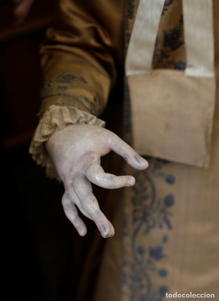 Arte: Extraordinaria virgen del carmen con niño finales siglo XVIII de gran tamaño. - Foto 10 - 112504187