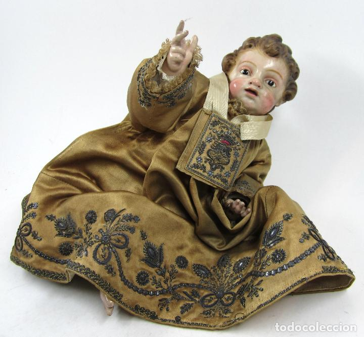 Arte: Extraordinaria virgen del carmen con niño finales siglo XVIII de gran tamaño. - Foto 2 - 112504187