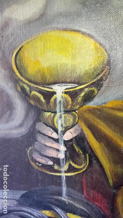 Arte: Cuadro al oleo de escena religiosa catolica y musulmana. e.estables 1946-1996 - Foto 7 - 142763370