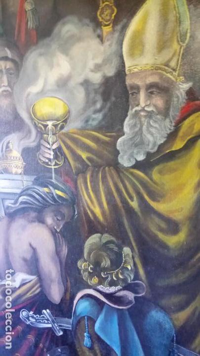 Arte: Cuadro al oleo de escena religiosa catolica y musulmana. e.estables 1946-1996 - Foto 10 - 142763370
