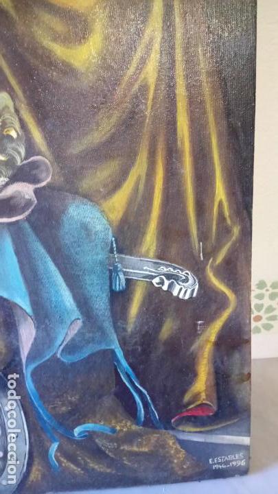 Arte: Cuadro al oleo de escena religiosa catolica y musulmana. e.estables 1946-1996 - Foto 11 - 142763370