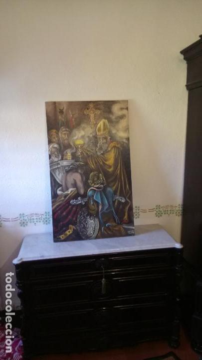 Arte: Cuadro al oleo de escena religiosa catolica y musulmana. e.estables 1946-1996 - Foto 16 - 142763370