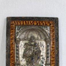 Arte: VIRGEN DEL CARMEN CUADRO RELIEVE EN METAL PLATEADO . Lote 142843170
