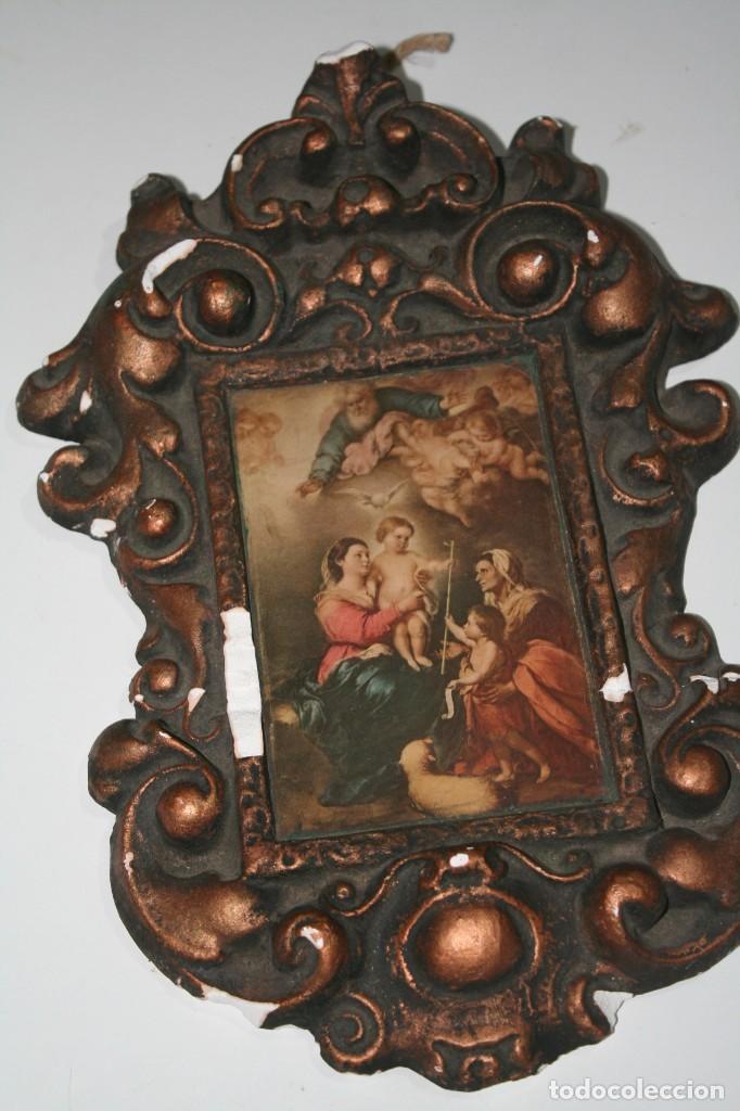 ANTIGUA PINTURA RETABLO CUADRO DE LA VIRGEN (Arte - Arte Religioso - Pintura Religiosa - Otros)