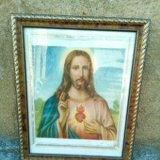Arte: CUADRO CORAZÓN DE JESÚS. Lote 142994138