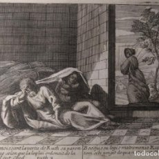 Arte: LIBRO DE RUTH. BOOS CONOCIENDO LA VIRTUD DE RUTH GRABADO H. 1600.. Lote 143094886