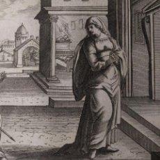 Arte: 523. LIBRO DE SAMUEL. ELÍAS REPRENDE A ANA. GRABADO H. 1600.. Lote 143095358