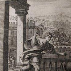 Arte: LIBRO DE SAMUEL. LA FUGA DE LOS ISRAELITAS Y LA MUERTE DE OPHNYS. GRABADO H. 1600.. Lote 143095658