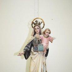 Arte: ANTIGUA FIGURA RELIGIOSA VIRGEN DEL CARMEN. Lote 159117068
