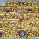 Arte: 18 FRISOS DE RETABLO DE LA CASA NATAL DE IGNACIO DE LOYOLA. MADERA TALLADA Y DORADA. ESPAÑA. XVII.. Lote 143299126