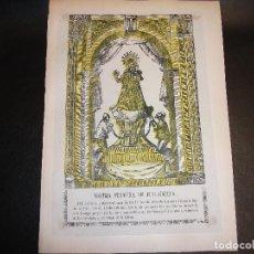Arte: SIGLO XIX VIRGEN NUESTRA SEÑORA DE JUNCADELLA JANCADELLA COLOREADA BARCELONA - RELIGION. Lote 143313826