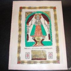 Arte: SIGLO XIX GRABADO XILOGRAFICO VIRGEN NUESTRA SEÑORA DE CASTELLET BARCELONA - MANRESA PAU ROCA. Lote 143315838