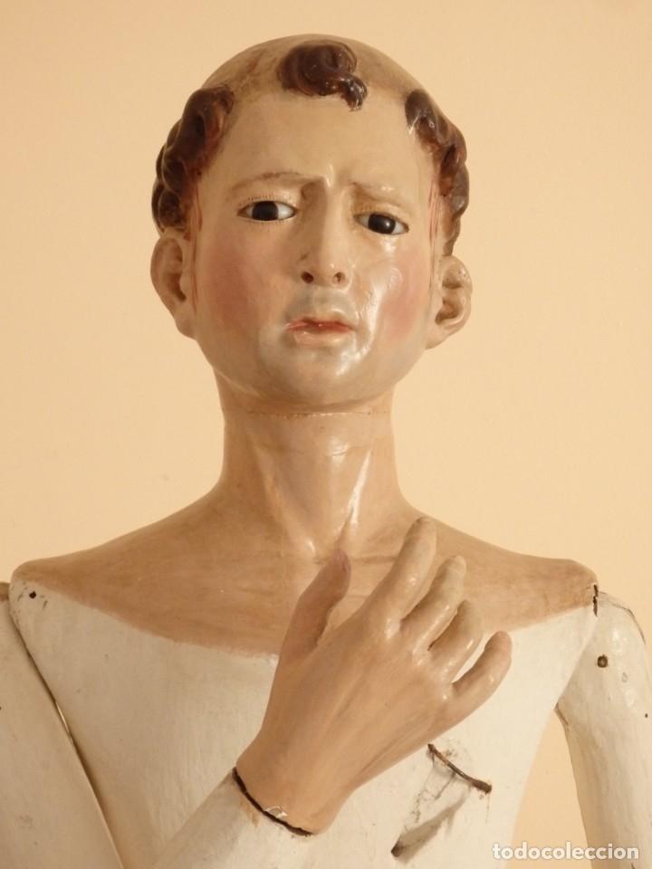 SAN PEDRO MÁRTIR. IMAGEN VESTIDERA O CAP I POTA EN MADERA TALLADA. 98 CM. SIGLO XVIII. (Arte - Arte Religioso - Escultura)