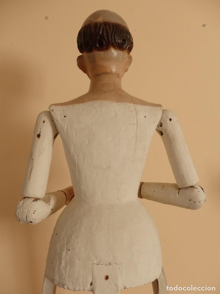 Arte: San Pedro Mártir. Imagen vestidera o cap i pota en madera tallada. 98 cm. Siglo XVIII. - Foto 8 - 143340742