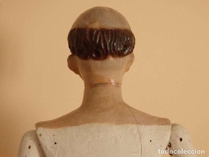 Arte: San Pedro Mártir. Imagen vestidera o cap i pota en madera tallada. 98 cm. Siglo XVIII. - Foto 9 - 143340742
