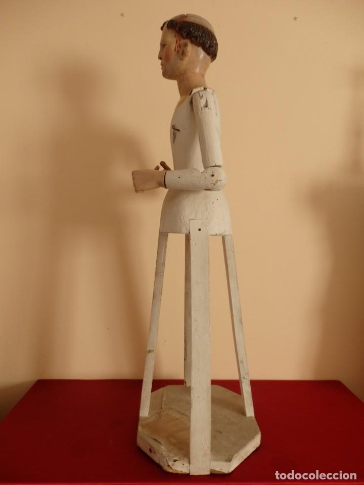 Arte: San Pedro Mártir. Imagen vestidera o cap i pota en madera tallada. 98 cm. Siglo XVIII. - Foto 11 - 143340742