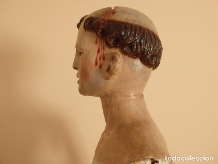 Arte: San Pedro Mártir. Imagen vestidera o cap i pota en madera tallada. 98 cm. Siglo XVIII. - Foto 12 - 143340742