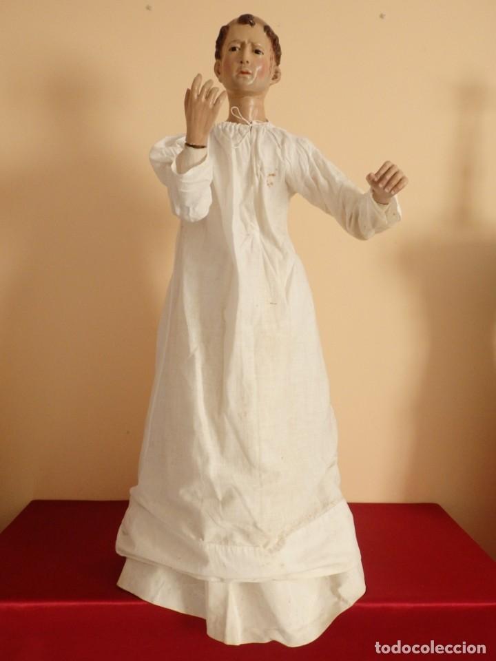 Arte: San Pedro Mártir. Imagen vestidera o cap i pota en madera tallada. 98 cm. Siglo XVIII. - Foto 13 - 143340742