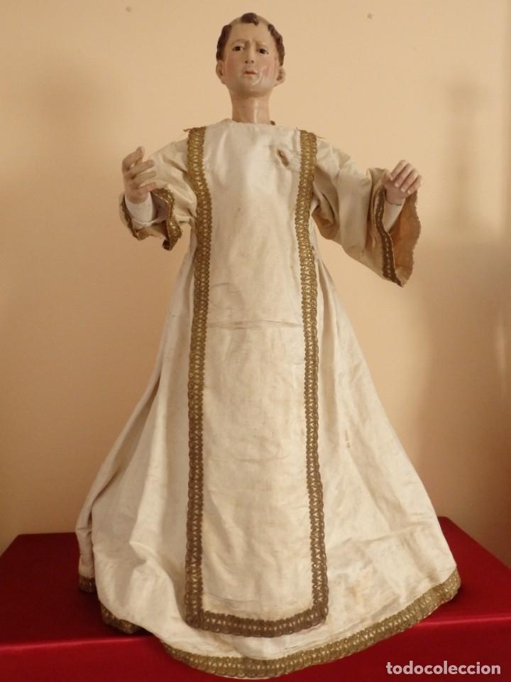Arte: San Pedro Mártir. Imagen vestidera o cap i pota en madera tallada. 98 cm. Siglo XVIII. - Foto 14 - 143340742