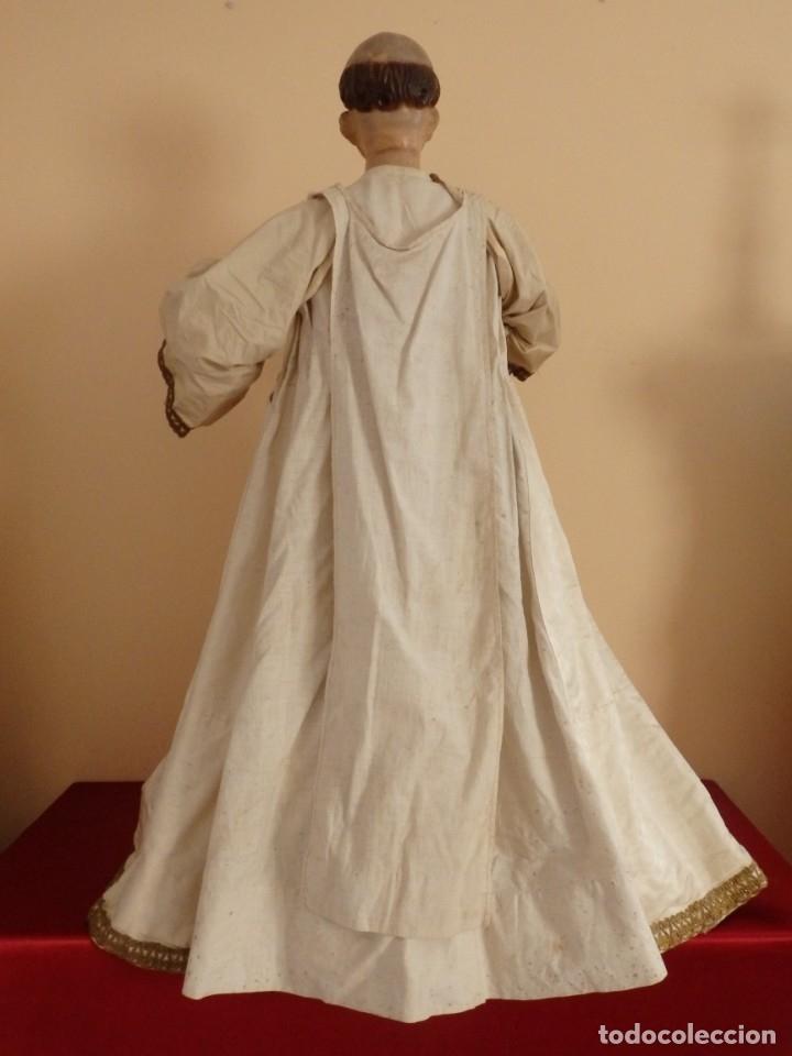 Arte: San Pedro Mártir. Imagen vestidera o cap i pota en madera tallada. 98 cm. Siglo XVIII. - Foto 16 - 143340742