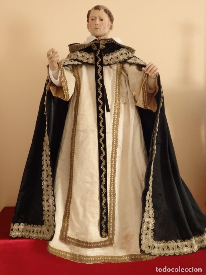 Arte: San Pedro Mártir. Imagen vestidera o cap i pota en madera tallada. 98 cm. Siglo XVIII. - Foto 17 - 143340742