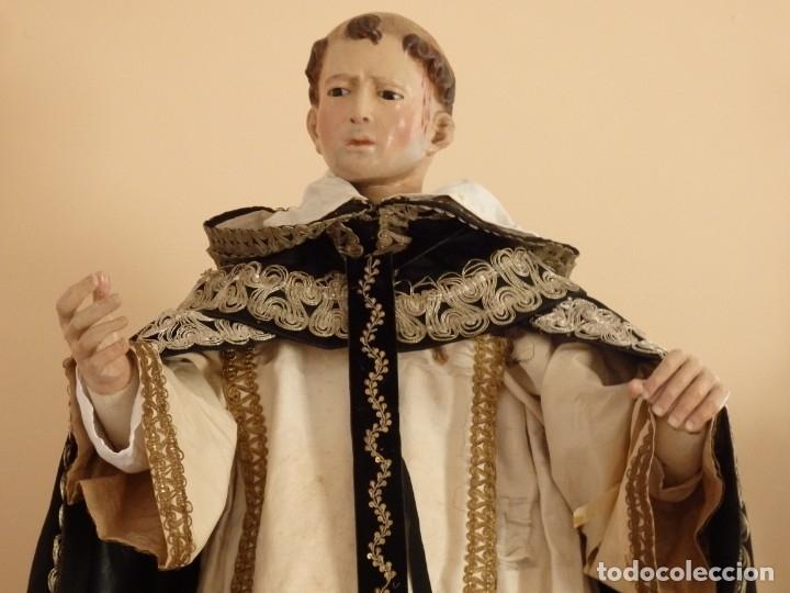 Arte: San Pedro Mártir. Imagen vestidera o cap i pota en madera tallada. 98 cm. Siglo XVIII. - Foto 19 - 143340742