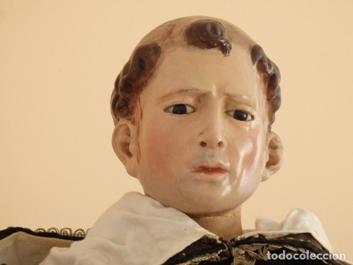 Arte: San Pedro Mártir. Imagen vestidera o cap i pota en madera tallada. 98 cm. Siglo XVIII. - Foto 20 - 143340742