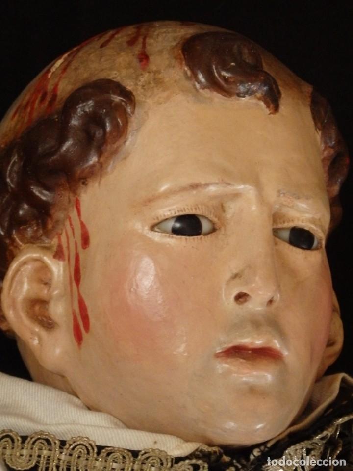 Arte: San Pedro Mártir. Imagen vestidera o cap i pota en madera tallada. 98 cm. Siglo XVIII. - Foto 23 - 143340742