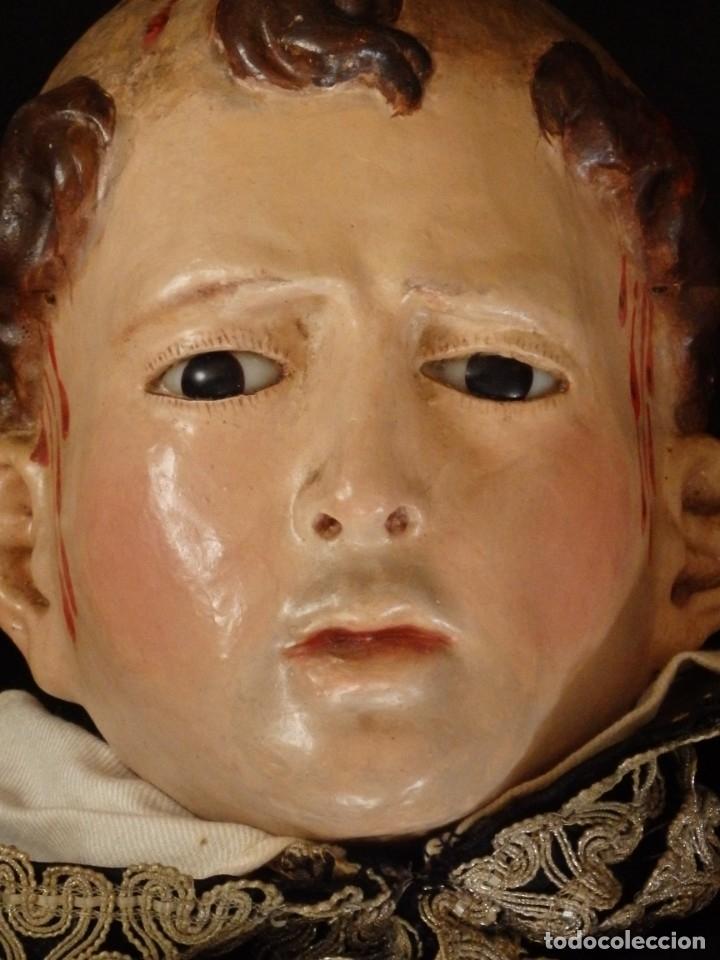 Arte: San Pedro Mártir. Imagen vestidera o cap i pota en madera tallada. 98 cm. Siglo XVIII. - Foto 24 - 143340742
