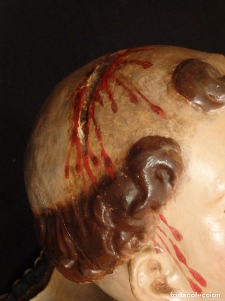 Arte: San Pedro Mártir. Imagen vestidera o cap i pota en madera tallada. 98 cm. Siglo XVIII. - Foto 27 - 143340742