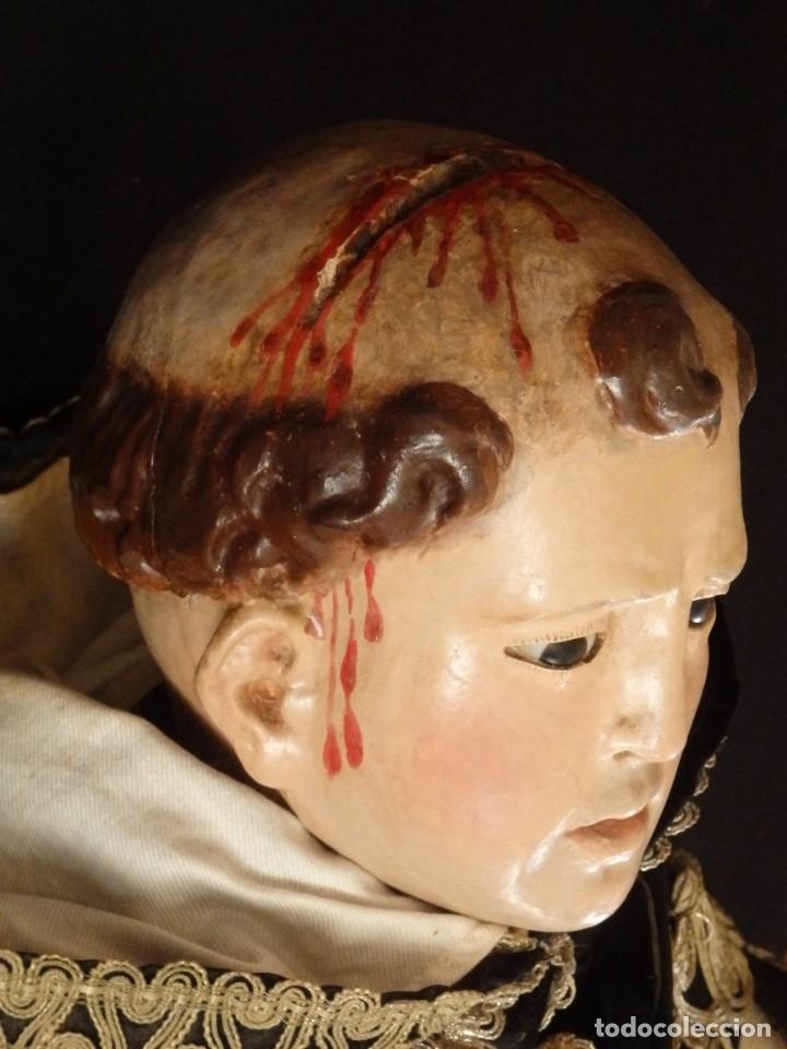 Arte: San Pedro Mártir. Imagen vestidera o cap i pota en madera tallada. 98 cm. Siglo XVIII. - Foto 28 - 143340742