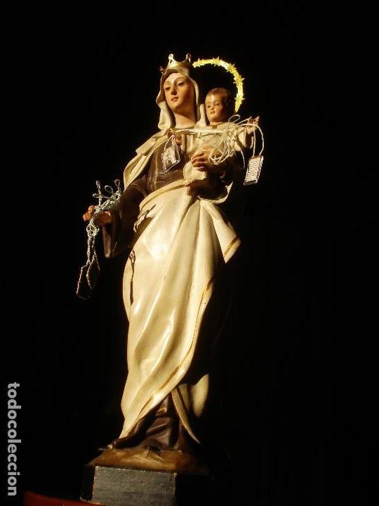 Arte: ANTIGUA VIRGEN DEL CARMEN CON NIÑO SELLADA EL ARTE CRISTIANO - Foto 3 - 189309658