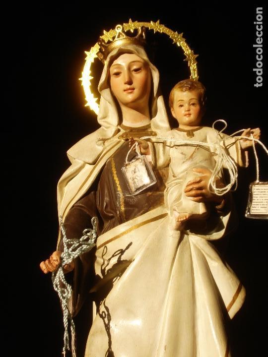 Arte: ANTIGUA VIRGEN DEL CARMEN CON NIÑO SELLADA EL ARTE CRISTIANO - Foto 8 - 189309658