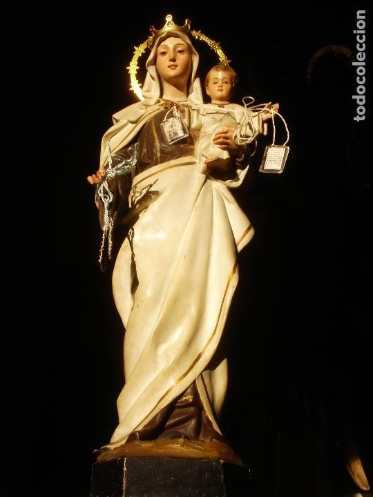 Arte: ANTIGUA VIRGEN DEL CARMEN CON NIÑO SELLADA EL ARTE CRISTIANO - Foto 9 - 189309658