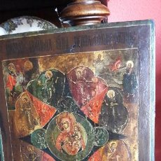 Arte: ICONO RUSO SOBRE TABLA VINGEN CON OTROS SANTOS .S XIX. Lote 143362314