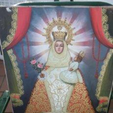 Arte: PRECIOSO OLEO VIRGEN CON NIÑO Y TRES QUERUBINES FIRMADO. Lote 143419082