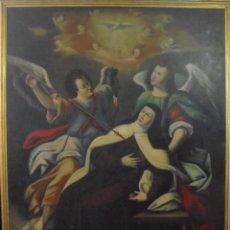 Arte: TRANSVERBERACION DE SANTA TERESA S.XVII.. Lote 143508586