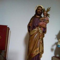 Arte: * SAN JOSÉ CON NIÑO JESUS. ESTUCO.OLOT .50 CM. (RF:GG/AB). Lote 143575210