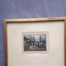 Arte: GRABADO ORIGINAL SOBRE PAPEL DE MANUEL CASTRO GIL. 14X10 COMBARRO PONTEVEDRA.. Lote 143718678